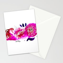Three Purple Christchurch Roses Stationery Cards