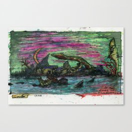 At The Shore of Dagon Canvas Print