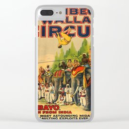 Vintage Circus poster Clear iPhone Case