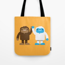 Bigfoot and Yeti Bros - High Five Tote Bag