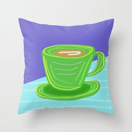 morning jo 2 Throw Pillow