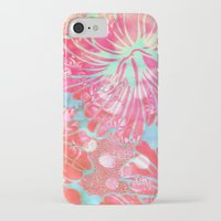 aelwen iPhone & iPod Cases featuring Blue Water Hibiscus Snowfall by Vikki Salmela