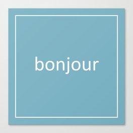 words: bonjour Canvas Print