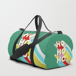 Christmas typography Duffle Bag