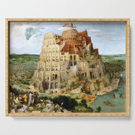 The Tower Of Babel Serving Tray