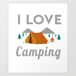 Awesome T-Shirt For Camping Lover. Gift For Dad/Mom. Art Print