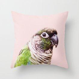 Parot Photography | Peek-a-boo | Tropical | Wildlife | Bird | Blush Pink Throw Pillow