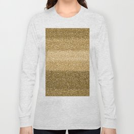Glitter Glittery Copper Bronze Gold Long Sleeve T-shirt
