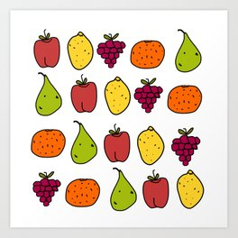 Fruits in a Line Art Print