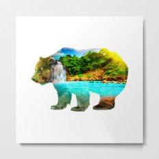 Bear Paradise Metal Print