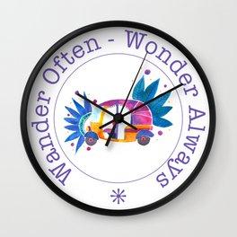 Wander often, wonder always Wall Clock