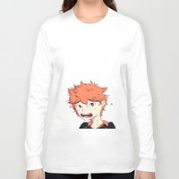 haikyuu Long Sleeve T-shirts featuring Birb Son by The London Fairy