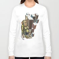 ape Long Sleeve T-shirts featuring Ape by VikaValter