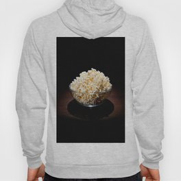 crunchy popcorn in glass bowl Hoody