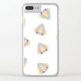 Retro diamonds Clear iPhone Case