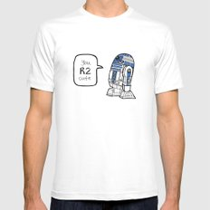 R2CUTIE White SMALL Mens Fitted Tee