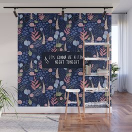 Wild flowers - night Wall Mural
