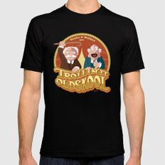 Statler & Waldorf Black Mens Fitted Tee X-LARGE