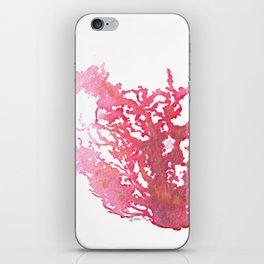 Aloha Pink Coral Watercolor Art iPhone Skin