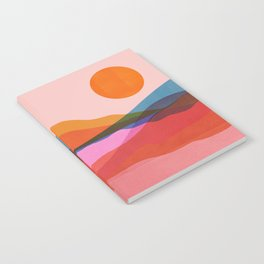 Abstraction_OCEAN_Beach_Minimalism_001 Notebook