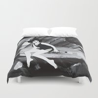 witch Duvet Covers featuring Witch by Inbeeswax