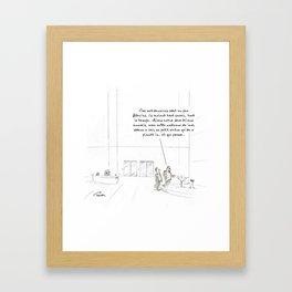 Rapport au temps Framed Art Print