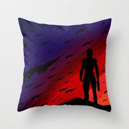 Darken the Sky Throw Pillow