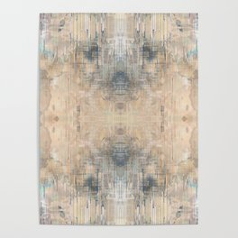 Glitch Vintage Rug Abstract Poster