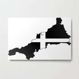 Cornwall County Flag Metal Print