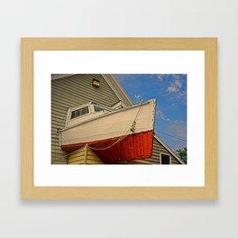 I Live In My Boat Framed Art Print