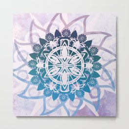 Purple Mandala Metal Print