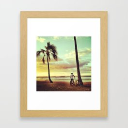 Hale'iwa Beach Park Framed Art Print