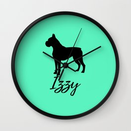 Boxer Izzy Mint Wall Clock