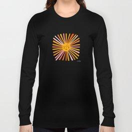 Sunshine – Retro Ochre Palette Long Sleeve T-shirt