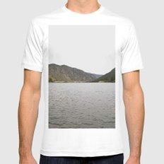 Rocky Mountain Lake Mens Fitted Tee MEDIUM White
