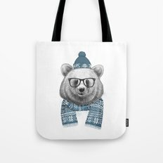 winter bear Tote Bag