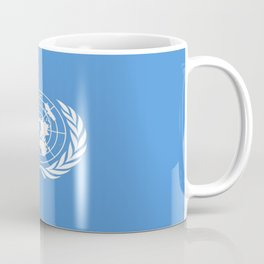 Flag on United nations -Un,World,peace,Unesco,Unicef,human rights,sky,blue,pacific,people,state,onu Coffee Mug