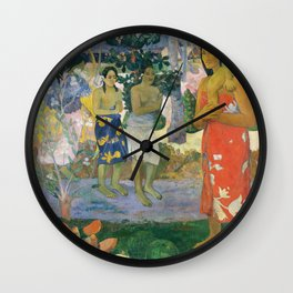 Hail Mary (Ia orana Maria) by Paul Gauguin Wall Clock
