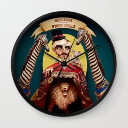 Uncle Edgar and the Hybrid Circus Wall Clock