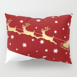 Red Christmas Santa Claus Pillow Sham