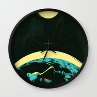 kansas Wall Clocks featuring Not In Kansas Anymore by Señor Salme