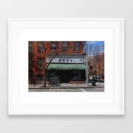 Old School Deli Framed Art Print