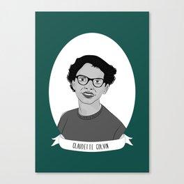 Claudette Colvin Illustrated Portrait Canvas Print