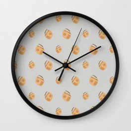 Travel pattern with bags Wall Clock
