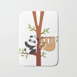 Cute Sloth & Panda Bath Mat