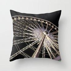 Wheeling Around Throw Pillow