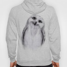 Snowy Owl Sketch Hoody