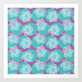 Swirly Flowers Art Print