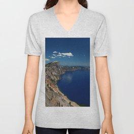 Crater Lake View with Caldera Rim Unisex V-Neck