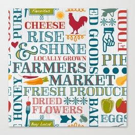 Farm Fresh Market Signage Canvas Print